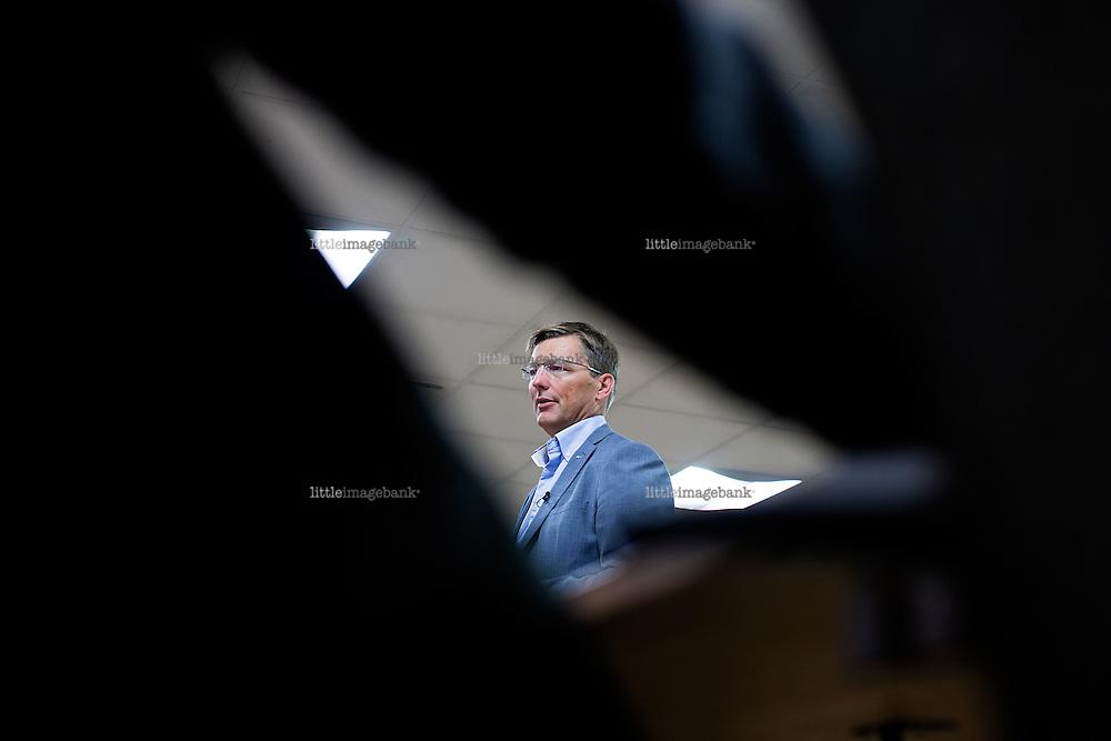 Oslo, Norge, 22.08.2014. Konsernsjef Pål Egil Rønn legger frem tall for selskapet på Felix konferansesenter på Aker Brygge. Foto: Christopher Olssøn.