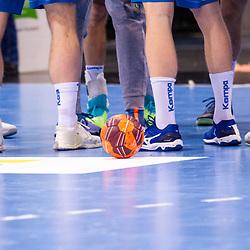 Feature: Handball auf Spielfeld / Beine / LIQUI MOLY HBL / 1. Handball-Bundesliga: TVB Stuttgart - HBW Balingen-Weilstetten am 17.03.2021 in Stuttgart (PORSCHE Arena), Baden-Wuerttemberg<br /> <br /> Foto © PIX-Sportfotos *** Foto ist honorarpflichtig! *** Auf Anfrage in hoeherer Qualitaet/Aufloesung. Belegexemplar erbeten. Veroeffentlichung ausschliesslich fuer journalistisch-publizistische Zwecke. For editorial use only.