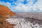 Iron rich red soil along the Gulf of St. Lawrence<br /> <br /> Prince Edward Island<br /> Canada