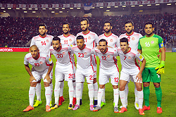 November 11, 2017 - Rades, Tunisia - Team of Tunisia during qualifying match for the 2018 FIFA Russia World Cup at Rades Stadium between Tunisia and Libya.Tunisia qualifies for the Russian world after a draw 0/0. (Credit Image: © Chokri Mahjoub via ZUMA Wire)