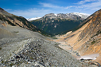 Glacial moraines above Salal Creek, Coast Mountains British Columbia Canada