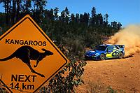 MOTORSPORT - WRC 2006 - AUSTRALIA RALLY - PERTH - 27/10 TO 29/10/2006 - PHOTO : CLAUDE SAULNIER / DPPI<br /> PETTER SOLBERG (NOR) - PHIL MILLS / SUBARU IMPREZA WRC 2006 - ACTION