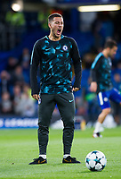Chelsea's Eden Hazard during the pre-match warm-up <br /> <br /> Photographer Ashley Western/CameraSport<br /> <br /> UEFA Champions League - Chelsea v FK Qarabag - Tuesday 12th September 2017 - Stamford Bridge - London<br />  <br /> World Copyright © 2017 CameraSport. All rights reserved. 43 Linden Ave. Countesthorpe. Leicester. England. LE8 5PG - Tel: +44 (0) 116 277 4147 - admin@camerasport.com - www.camerasport.com