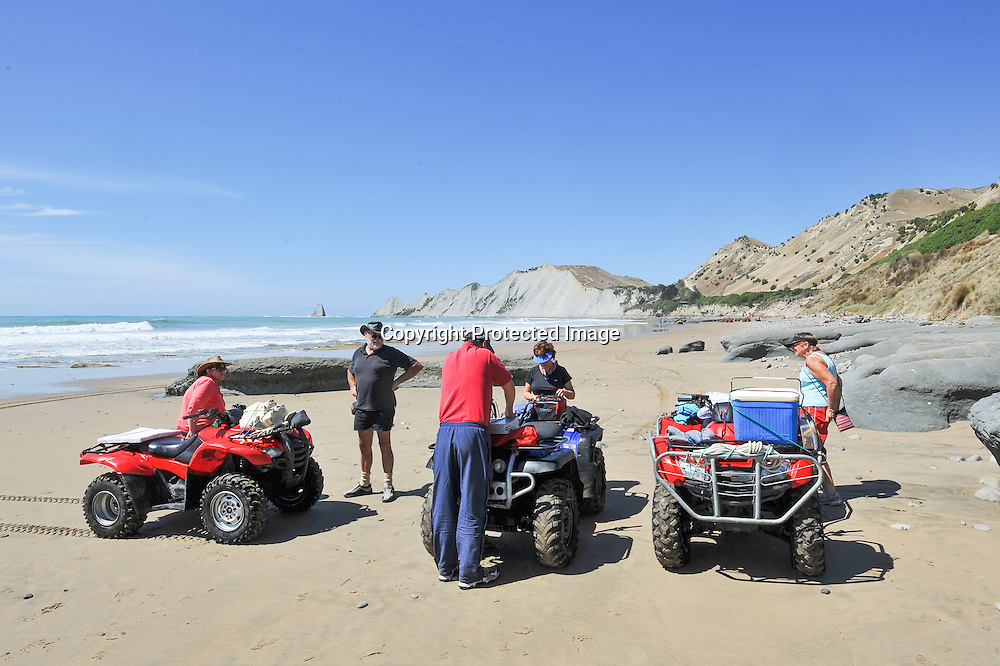 Ride to Cape Kidnappers on Quad Bikes