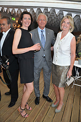 Left to right, THOMASINA MIERS, GALEN & HILARY WESTON at a party to celebrate the publication on 'Let's Eat: Recipes From My Kitchen Notebook' by Tom Parker Bowles held at Selfridge's Rooftop. Selfridge's, Oxford Street, London on 27th June 2012.