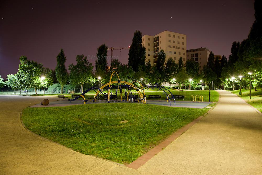 I giardini pubblici del quartiere residenziale di Lambrate-Rubattino.