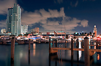 View of Marina in Downtown Miami Florida.