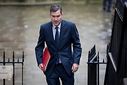 © Licensed to London News Pictures. 07/02/2017. London, UK. Chief Secretary to the Treasury David Gauke arriving at Downing Street for a Cabinet meeting this morning. Photo credit : Tom Nicholson/LNP