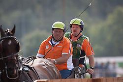 Theo Timmerman, (NED), Boy, Dani, Draco, Mister, Rodina - Driving Marathon - Alltech FEI World Equestrian Games™ 2014 - Normandy, France.<br /> © Hippo Foto Team - Dirk Caremans<br /> 06/09/14