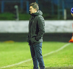 Cowdenbeath's manager Liam Fox at the end. Cowdenbeath 3 v 4 Forfar Athletic, Scottish Football League Division Two game played 17/12/2016 at Central Park.