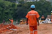 Betim_MG, Brasil. ..Obra de infranestrutura do DNIT executada na BR 381 em Betim...Works infrastructure of DNIT in the BR 381 in Betim...Foto: LEO DRUMOND / NITRO