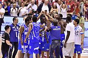 DESCRIZIONE : Milano Lega A 2014-15 EA7 Emporio Armani Milano vs Banco di Sardegna Sassari playoff Semifinale gara 7 <br /> GIOCATORE : team<br /> CATEGORIA : esultanza postgame<br /> SQUADRA : Banco di Sardegna Sassari<br /> EVENTO : PlayOff Semifinale gara 7<br /> GARA : EA7 Emporio Armani Milano vs Banco di Sardegna SassariPlayOff Semifinale Gara 7<br /> DATA : 10/06/2015 <br /> SPORT : Pallacanestro <br /> AUTORE : Agenzia Ciamillo-Castoria/GiulioCiamillo<br /> Galleria : Lega Basket A 2014-2015 Fotonotizia : Milano Lega A 2014-15 EA7 Emporio Armani Milano vs Banco di Sardegna Sassari playoff Semifinale  gara 7 Predefinita :