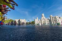 The platoon of La Vuelta across Cibeles square during the last stage or La Vuelta of Spain in Madrid. September 10, 2016. (ALTERPHOTOS/Rodrigo Jimenez)
