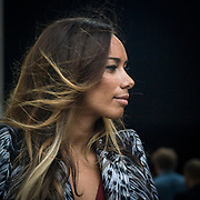 Sesto e penultimo giorno della Settimana della Moda a Milano: Leona Lewis fotografata alla sfilata di Roberto Cavalli<br /> <br /> Sixth day and penultimate day of Milan Fashion Week: Leona Lewis photographed at the fashion show Roberto Cavalli