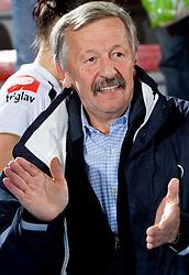 Jernej Virant at handball match of Round 2 of Champions League between RK Krim Mercator and Aalborg DH, on October 31, 2009, in Arena Kodeljevo, Ljubljana, Slovenia.  Krim won 30:23. (Photo by Vid Ponikvar / Sportida)