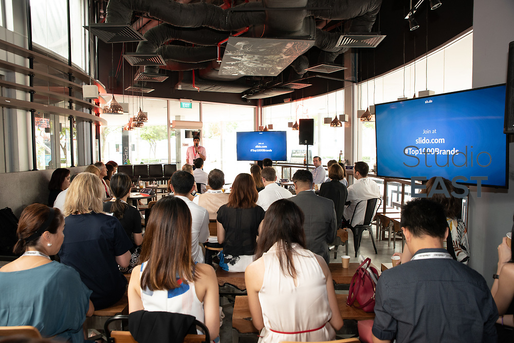 Campaign Asia-Pacific's opening remarks<br /> by Faaez Samadi, SEA editor, during Asia's Top 1000 Brands in Esplanade, Singapore, Singapore, on 6 September 2018. Photo by Steven Lui/Studio EAST