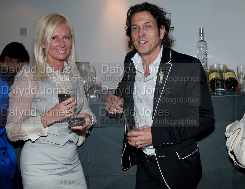 NATHALIE SCOTT; ( MISSCUFFLINKS) STEPHEN WEBSTER, THE launch of Coutts london jewelry week. Altitude 360. Millbank.  9 June 2009