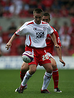 Photo: Rich Eaton. <br /> <br /> Nottingham Forest v AFC Bournemouth. Coca Cola Championship. 11/08/2007. Bournemouth's Gareth O'Connor shields the ball.