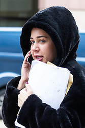 Property heiress Chloe Pidgley, 26, leaves City Of London Magistrates Court where she faces charges of assaulting two police officers outside her Kensington flat on  march 29th 2019. London, September 25 2019.