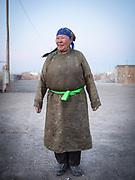 A Mongolian woman in Dalanzadgab,