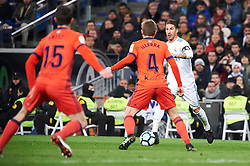 Real Madrid and Real Sociedad at Santiago Bernabeu on February 10, 2018 in Madrid, Spain. 10 Feb 2018 Pictured: Sergio Ramos (defender; Real Madrid), Asier Illarramendi (midfielder; Real Sociedad). Photo credit: MEGA TheMegaAgency.com +1 888 505 6342