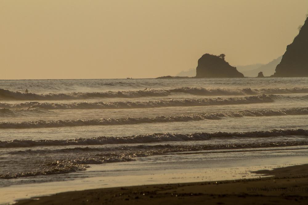 Misty beach Cost Rica