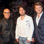 NLD/Hilversum/20140311 - Perspresentatie The Passion 2014, Stanley Burleson, Jan Dulles en Beau van Erven Dorens