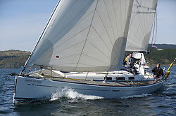 The Clyde Cruising Club's Scottish Series held on Loch Fyne by Tarbert. Day 2 racing in a perfect southerly.. GBR8869T, Spirit of May, Alastair Torbet, CCC, Dufour 40