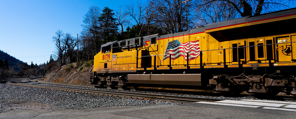 Union Pacific Railroad, UP8179, Dunsmuir California