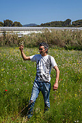 Xavier Safon-Tria, organic producer during an open day at Can Tria de Mata, near Mataro, Barcelona, Catalonia. (c) Dave Walsh 2017