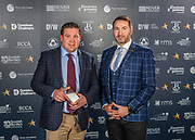 Scottish Border of Chamber Border Busines awards, 2017, held at Springwood Hall.<br /> <br /> 'Retailer of the Year' winner Fin & Game, based in Kelso. Sponsored by Retail Management Solution, (RMS) EPOS, based in Selkirk.<br /> <br /> The award was collected on their behalf by the Kelso Provost, Dean Weatherston with pictures here with RMS' Jim Lenaghan.