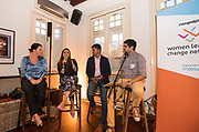 Panel discussion led by Faeez Samadi during the Women Leading Change Network in Lime House, Singapore, Singapore. Photo by Charlie Lee / Studio EAST