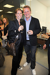 TOM & CAMILLA BRIDGEWATER at reception to see the installation of Horse at Water by Nic Fiddian-Green at Marble Arch, London on 14th September 2010.