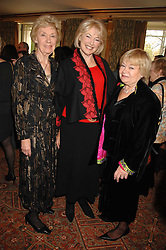 Left to right, JOAN MORECAMBE, DIANA MORAN and SANDY CHALMERS at a tribute lunch for Elaine Paige hosted by the Lady Taverners at The Dorchester, Park Lane, London on 13th November 2007.<br />