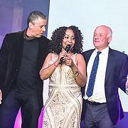 Sheyla Bonnick performs at the Grand Final MISS USSR UK 2019 at Hilton Hotel Park Lane on 27 April 2019, London, UK.