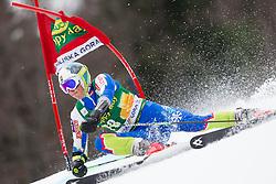 Forerunner Stefan Hadalin of Slovenia during the 1st Run of 7th Men's Giant Slalom - Pokal Vitranc 2013 of FIS Alpine Ski World Cup 2012/2013, on March 9, 2013 in Vitranc, Kranjska Gora, Slovenia. (Photo By Vid Ponikvar / Sportida.com)