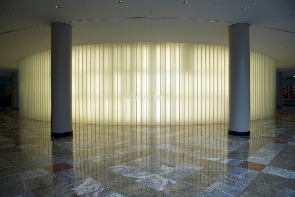 entrance to lobby with ornamental light wall