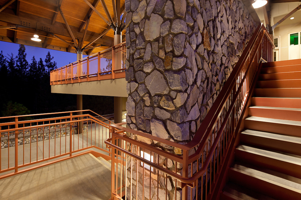 This is a photograph in a series of photographs detailing the Sugar Pine Science Building of Columbia Community College, Sonora, CA