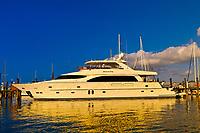 Yacht, Key West Bight Marina, Key West, Florida Keys, Florida USA