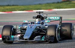 February 27, 2017 - Barcelona, Spain - The Mercedes of Valtteri Bottas during the Formula 1 tests held in the Barcelona-Catalunya Circuit, on february 27, 2017. Photo: Jordi Galbany/Urbanandsport/Nurphoto  (Credit Image: © Jordi Galbany/NurPhoto via ZUMA Press)