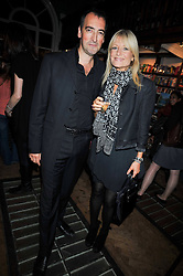 ALISTAIR McGOWAN and GABBY ROSLIN at a party to celebrate the publication of 'A Matter of Life and Death' by Ronni Ancona and Alistair McGowan held at Daunt Books, 83 Marylebone High Street, London on 8th October 2009.