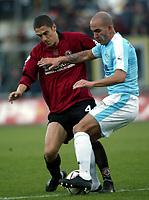 Livorno 11-12-2005<br /> Livorno Lazio<br /> Campionato  Serie A Tim 2005-2006<br /> nella  foto Morrone Di Canio<br /> Foto Snapshot / Graffiti