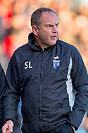 Gillingham FC manager Steve Lovell  during the EFL Sky Bet League 1 match between Gillingham and Fleetwood Town at the MEMS Priestfield Stadium, Gillingham, England on 3 November 2018.<br /> Photo Martin Cole