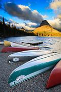 Sunrise on Two Medicine Lake, Glacier National Park.
