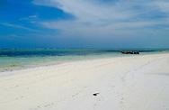 Fine white sand on Matemwe Beach, Zanzibar, Tanzania