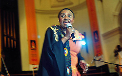 Sept. 30, 2005 - K45340.MIRIAM MAKEBA PERFORMING AT CAPE TOWN CITY HALL, CAPE TOWN SOUTH AFRICA 09-29-2005. MAGAZINE FEATURES-   2005.(Credit Image: © Magazine Features/ZUMA Wire)