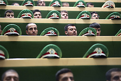 August 5, 2017 - Tehran, Iran - Iranian soldiers attend Hassan Rouhani's inauguration ceremony as Iranian President in Iran's parliament. Rouhani was sworn in as Iranian President for his second term on Saturday and vowed to continue constructive interaction with the international community. (Credit Image: © Ahmad Halabisaz/Xinhua via ZUMA Wire)