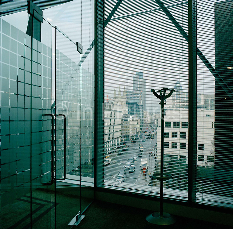 View towards the Nat West Tower and the City of London from the boardroom.From the series Desk Job, a project which explores globalisation through office life around the World.