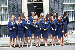 August 29, 2017 - London, London, United Kingdom - Image licensed to i-Images Picture Agency. 29/08/2017. London, United Kingdom. The  England Women's World Cup..winning  cricket team arriving for a reception at No10 Downing Street in London. Picture by Stephen Lock / i-Images (Credit Image: © Stephen Lock/i-Images via ZUMA Press)