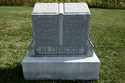 23 September 2017: Elisha (1803 - 1878) and Mary Aldridge (1803 - 1886)  West Union Cemetery is located on the north side of Illinois Rt 9 between Danvers and Mackinaw.  It is located within McLean County